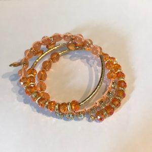 Peach layered bracelet